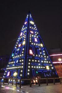 árbol de navidad de Pacman