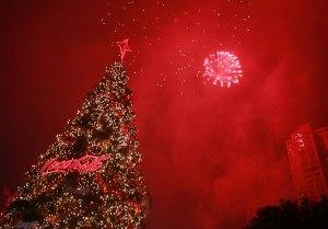 árbol de navidad coca cola
