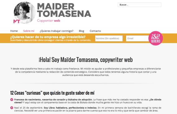 Maider Tomasena. Sobre mí