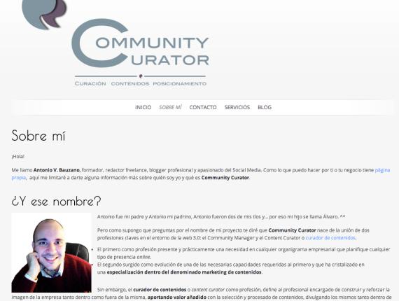 Community Curator. Sobre mi